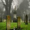Lonely escape cemetery